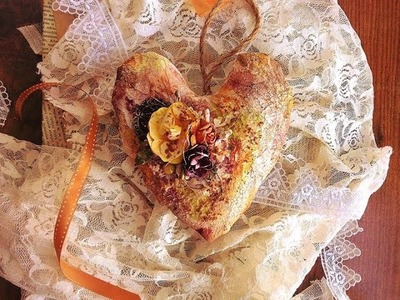 TUTORIAL PASO A PASO -  Cómo alterar y decorar un corazón - Altered Heart Tutorial