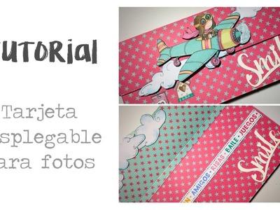 "Tutorial scrapbooking Dayka Trade ""Tarjeta para fotos"""