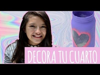3 IDEAS DE FRASCOS PARA DECORAR TU CUARTO #DIY