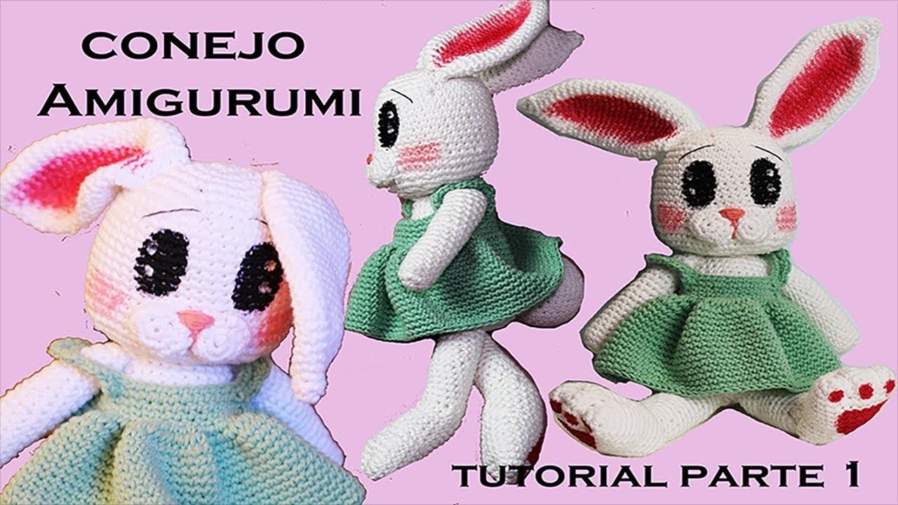 Amigurumi conejo, tutorial a crochet paso a paso (parte 1) DIY