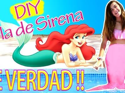COLA de SIRENA casera para nadar. DIY cola de sirena | ideas FACILES DIY
