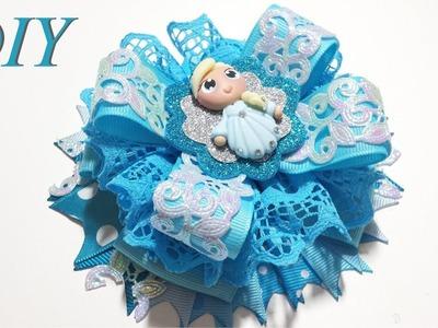 Como Hacer Lazos ???? DIY #162 Lazo Apilado Inspirado en Elsa de Frozen