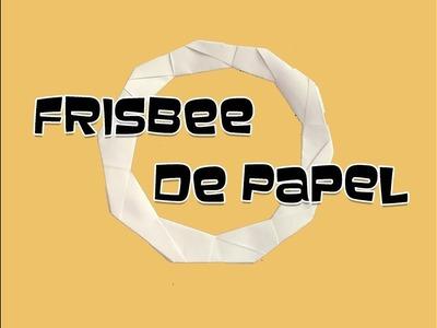 COMO HACER UN FRISBEE DE PAPEL-origami,papiroflexia