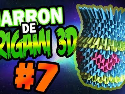 Como hacer un JARRÓN de origami 3D #7.Origamileo