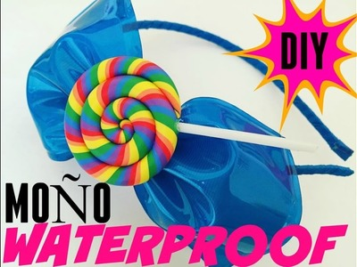 Como hacer un  Moño de PLASTICO y LISTON . DIY: How to make a PLASTIC WATERPROOF hair bow