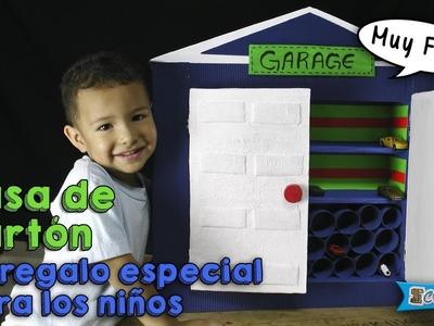 Cómo hacer una casita de cartón - Regalos para niños DIY