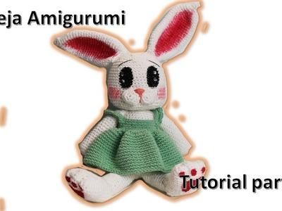 Coneja amigurumi, tutorial a crochet paso a paso 3 DIY