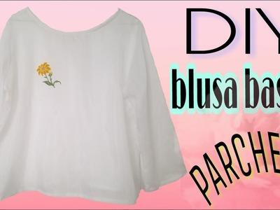 DIY blusa basica. parches bordados| Katirya Rodriguez