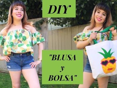 "DIY ""BLUSA CAMPESINA Y BOLSA"""