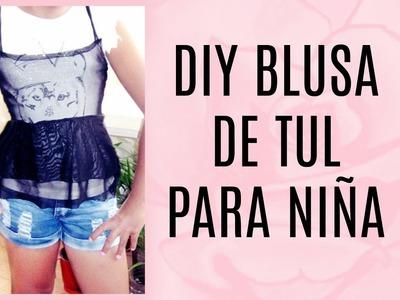 DIY Blusa De Tul Para Niña ㅣ Palo de Rosa ♡