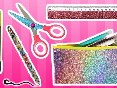 ★ DIY: Decora tus Útiles Escolares con Glitter o Purpurina.Diamantina || Vuelta a clases ★