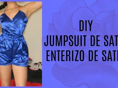 DIY Enterizo de Satin.Jumpsuit ㅣ Palo de Rosa ♡