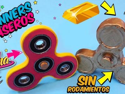 DIY: Fidget Spinner de SOY LUNA y SPINNER DE ORO CASERO SIN RODAMIENTOS
