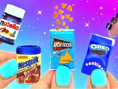 DIY HAZ COMIDA EN MINIATURA Comestibles DE VERDAD | Oreo, Doritos, Nutella, Nesquik