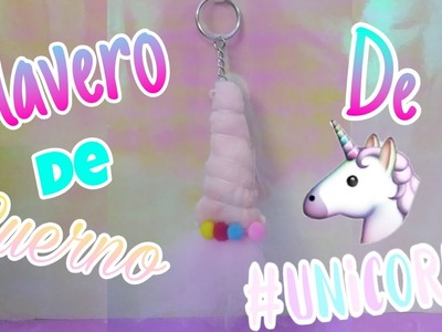 DIY llavero de cuerno de unicornio ????| Art & Craft❤