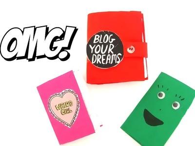 DIY Material Escolar en miniatura 100 % de verdad. MINI libretas.cuadernos fácil