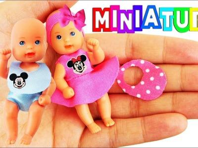 DIY Ropa en miniatura para los bebés de Barbie sin coser  - Cosas para bebés en miniatura