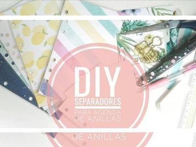 DIY || Separadores para agendas de anillas