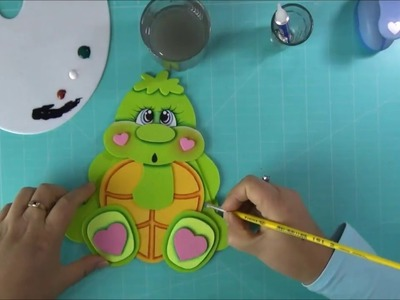 DIY Tortuguita en Foami, Goma Eva, Microporoso, Turtle Easy Craft