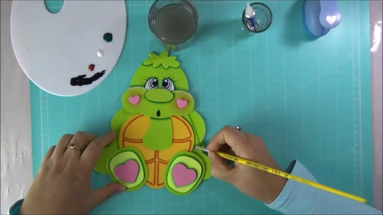 DIY Tortuguita en Foami, Goma Eva, Microporoso, Turtle Easy Craft