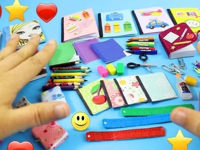 DIY | Útiles Escolares En Miniatura  100% Real  - Lapices, Libretas, Tijeras - [Realmente Funcionan]