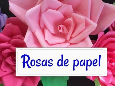 FLORES DE PAPEL.DIY| DECORA TU HABITACIÓN.MANUALIDAD