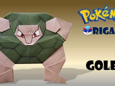 Golem Origami Pokemon-golem origami-how to make origami pokemon golem-diy origami pokemon.
