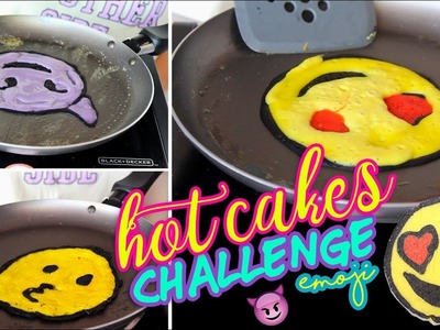 HOT CAKES ART CHALLENGE | RETO EMOJI CON PANCAKES DIY| DIBUJOS QUE SE COMEN | LINDA LOVE