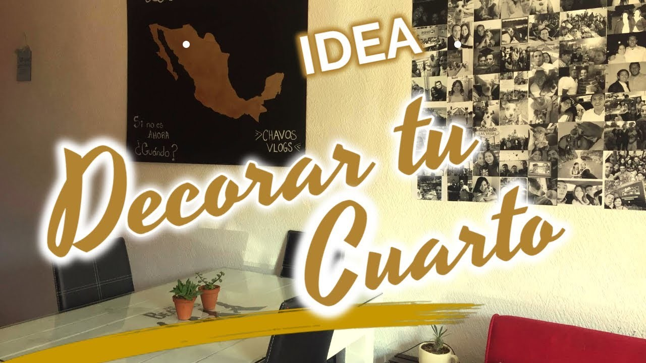 IDEA DECORAR TU CUARTO, TU SALA, DIY DECORAR TU MURO PARED ...