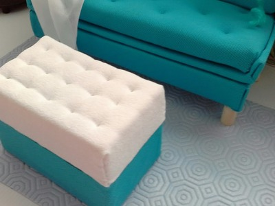 Manualidad : Ottoman.mesa de sala para muñecas barbie ♡ DIY ottoman.coffee table for barbie dolls