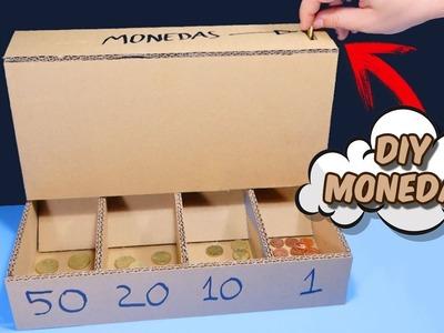 Máquina para separar monedas hecha de CARTÓN - DIY