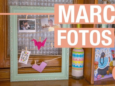 Marco para colgar fotos con cuerda · Handfie DIY