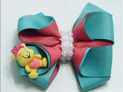 Moños Pequeños Ideales para Colegio,DIY Make Hair Bow, Ribbon bow,  Manualidades la Hormiga