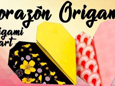 Papel Origami Corazón ❤ Papiroflexia ❤ origami heart ???? origami paper ????