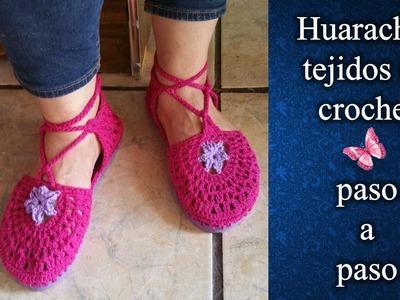 SANDALIAS O HUARACHES en crochet PASO A PASO 2 de 2