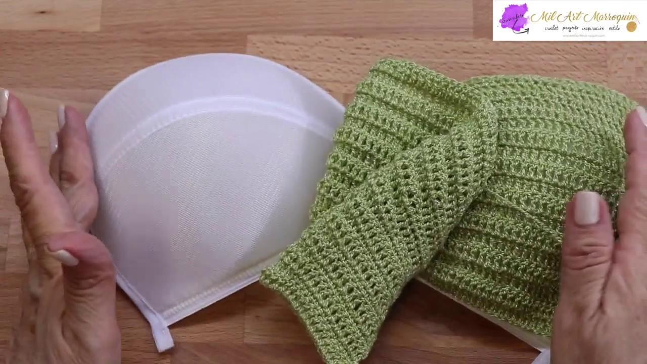 Sostén Crochet con Base de Copa