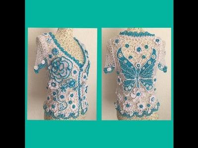 """Tutorial Blusa """"Alegría """"???? ( mi primer Crochet irlandés ????)paso a paso"""