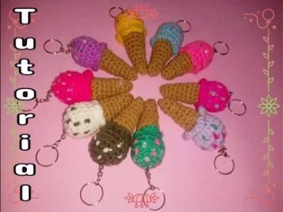 Tutorial: Mini Heladitos llaveros tejidos a Croche