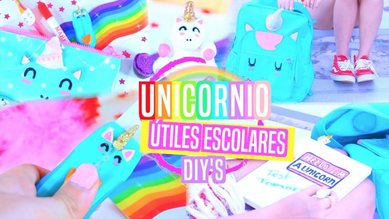 Unicornio Útiles Escolares DIY's + SORTEO!