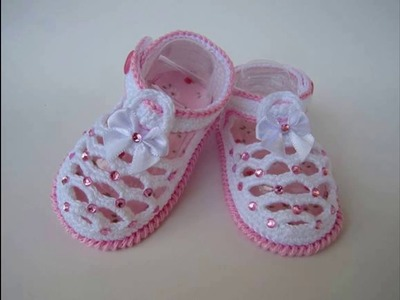 Zapatos de bebe tejidos a crochet