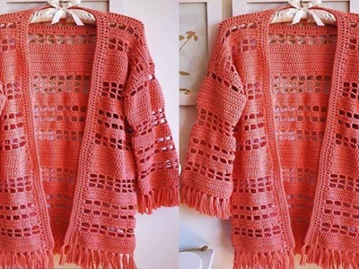 Abrigos de Mujer _ Tejidos a Crochet