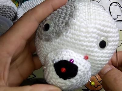 Amigurumi Cachorrinho Jack Pup part 9. Créditos Hellow Yellow Yarn. Crochet & craft by Mj Carlos