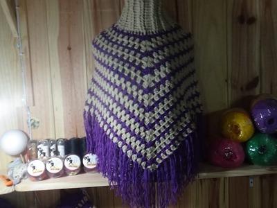 Aprende a tejer un poncho súper fácil a crochet en todas las tallas
