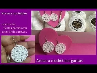 Aretes a crochet margaritas