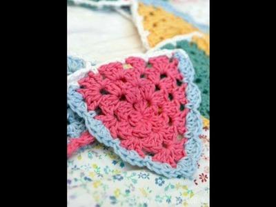 Banderín tejido en crochet