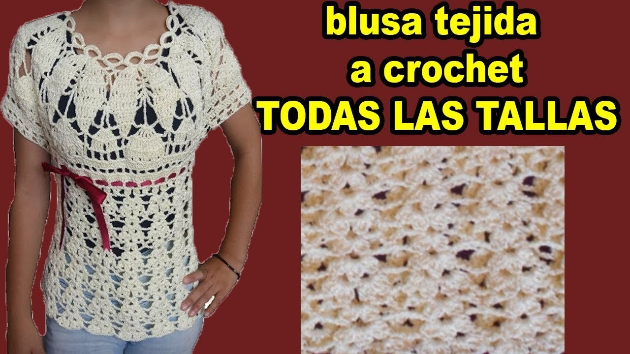 Blusa a crochet para dama en todas las tallas. Crochet blouse for women in all sizes