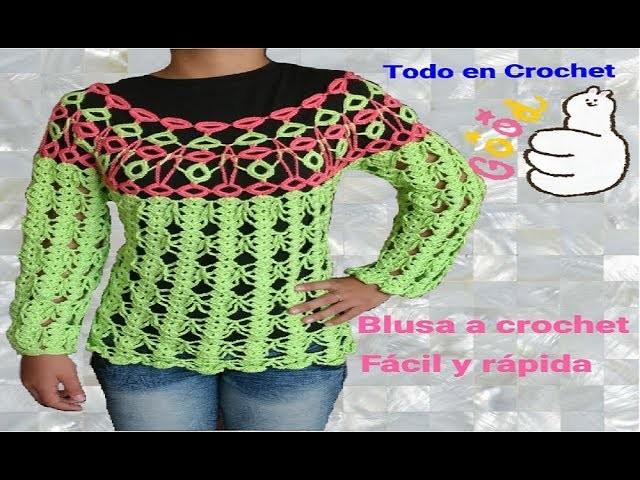 Blusa a crochet parte #2