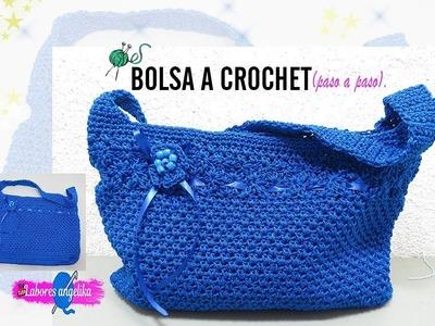 BOLSA A CROCHET PASO A PASO. | Labores Angélika |