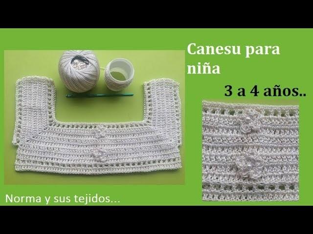 Canesu a crochet  de 3 a 4 años