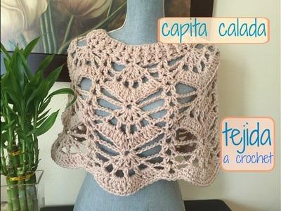 Capita Calada Tejida a Crochet.Ganchillo
